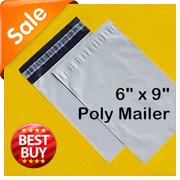厂家促销塑料袋快递包装袋加厚白色快递袋外贸袋poly mailer15*22
