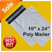 促销热卖优质快递袋子 加厚poly mailer白色防水外贸塑料袋 48X61
